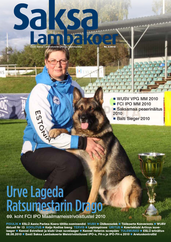 FCI IPO MM 2010 Hämeenlinna Soome Urve Lageda ja Ratsumestarin Drago