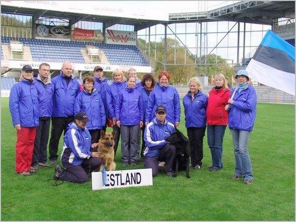 WUSV IPO MM 2006 Randers Taani Eesti meeskond fännidega