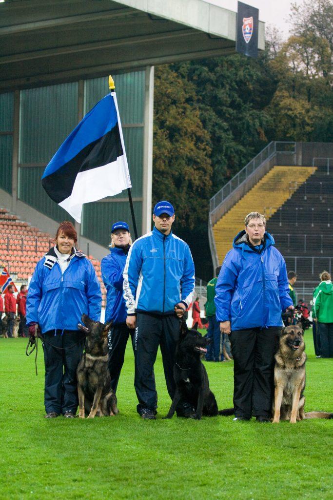 WUSV IPO MM 2009 Krefeld Saksamaa Eesti meeskond