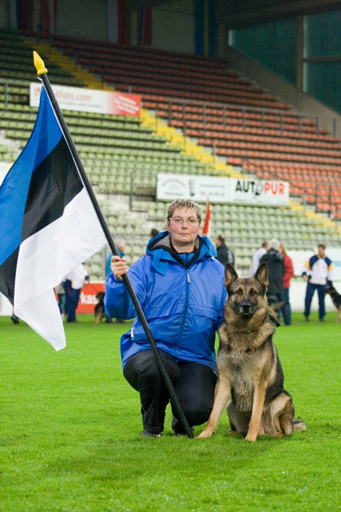 WUSV IPO MM 2009 Krefeld Saksamaa Urve Lageda ja Ratsumestarin Drago