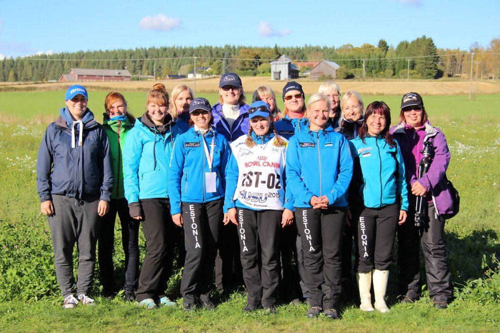 WUSV IPO MM 2015 Lahti Soome Eesti meeskond toetustiimiga