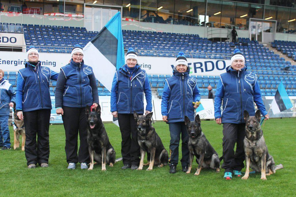 WUSV MM 2018 Randers Taani Eesti meeskond